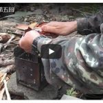 渓流釣り→調理→火おこし→食事